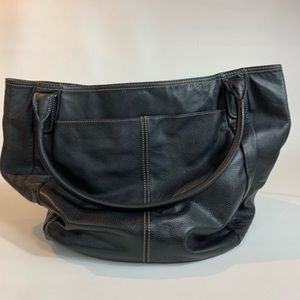 Tignanello Black Leather Purse